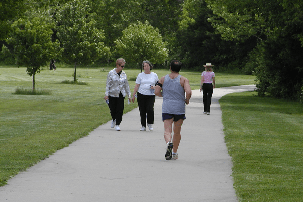 People Enjoying JC Parks Fitness Trails and Loops
